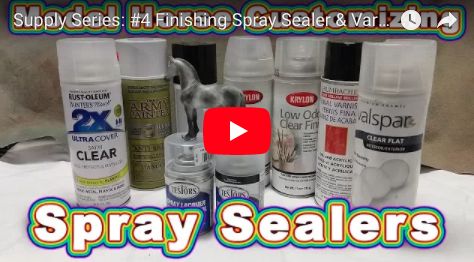 model horse painting spray sealers comparisons review art by c